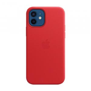 Apple iPhone 12/12 Pro MagSafe Leather Case, (PRODUCT) Red - MHKD3
