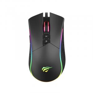 Havit RGB Backlit Gaming Mouse, Black - MS1001A