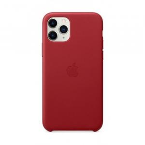 Apple iPhone 11 Pro Leather Case, (PRODUCT) Red - MWYF2