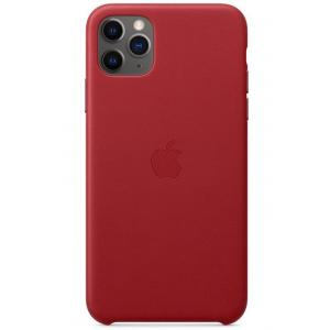 Apple iPhone 11 Pro Max Leather Case, (PRODUCT) Red - MX0F2