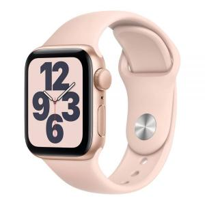 Apple Watch SE, GPS 44mm Gold Aluminium Case with Pink Sand Sport Band - MYDR2