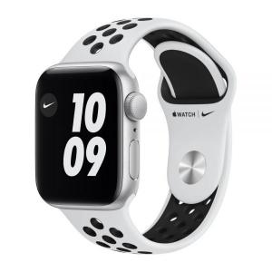Apple Watch Nike S6 GPS 40mm Silver Alum Case with Pure Platinum/Black Nike Sport Band - M00T3