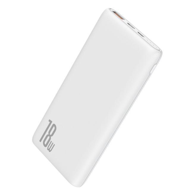Baseus Bipow Quick Charge 10,000mAh Power Bank PD+QC, White - PPDML-02