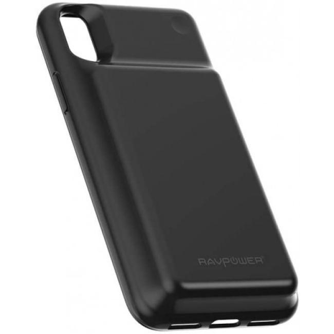 RAVPower 3200mAh Wireless Battery Case for iPhone X, Black - RP-PB120