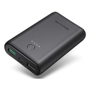 RAVPower 18W Dual USB 10050mAh QC Power Bank, Black - RP-PB171