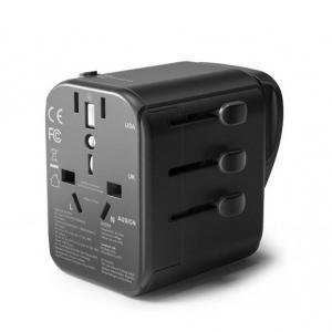 RAVPower 4-Port Travel Adapter Charger 30W, Black - RP-PC099-B