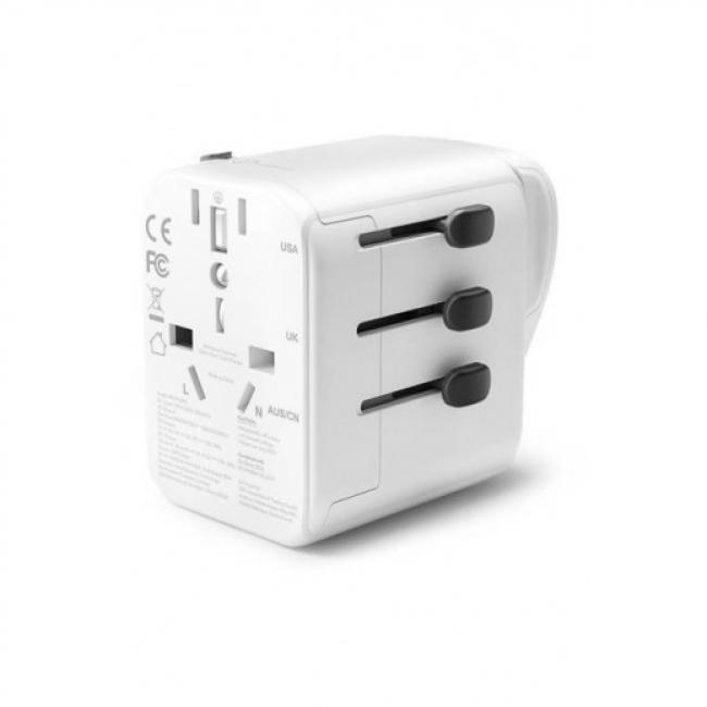 RAVPower 4-Port Travel Adapter Charger 30W, White - RP-PC099-W