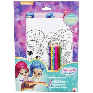 Shimmer And Shine Poster Art Set With Stickers - SHI-4435