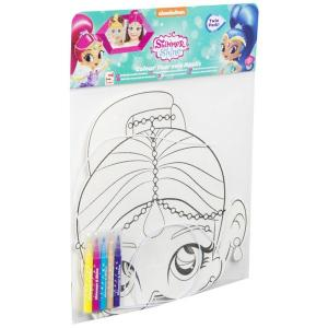 Shimmer And Shine Colour Your Own Mask Twin Pack - SHI-Y17-4524-1