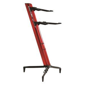 Quiklok Dual-Tier Aluminium Keyboard Stand, Red - SL-913ALU-RE