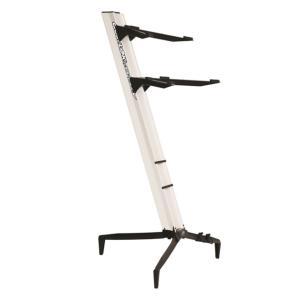 Quiklok Dual-Tier Aluminium Keyboard Stand, White - SL-913ALU-WH