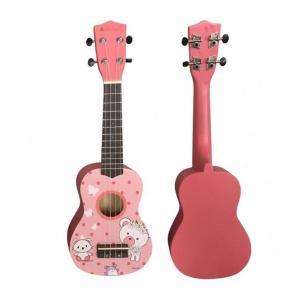 Artland Ukulele Four Strings Cartoon Guitar, Pink – UKS200DP