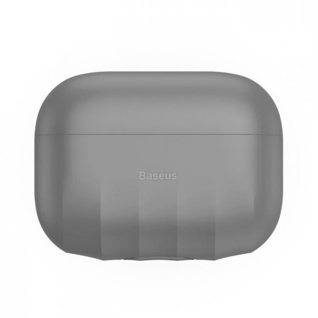 Baseus Shell Pattern Silica Gel Case For AirPods Pro, Grey - WIAPPOD-BK0G
